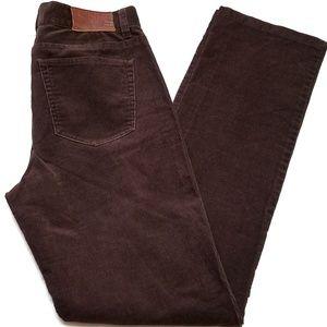 Ralph Lauren Brown Corduroy Classic Straight Pants